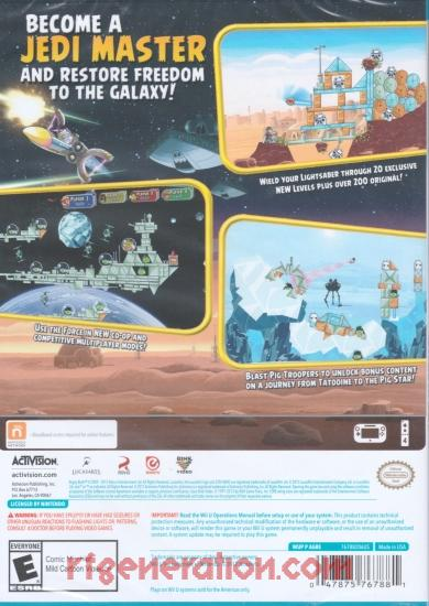 Angry Birds: Star Wars Box Back