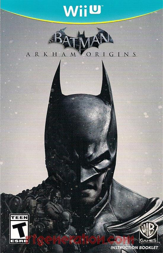 Batman: Arkham Origins  Manual Scan