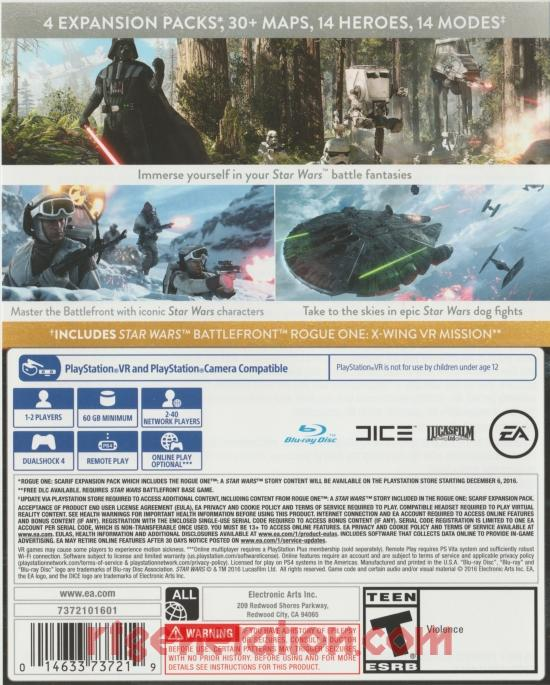 Star Wars: Battlefront <sup>[Ultimate Edition]</sup> Box Back