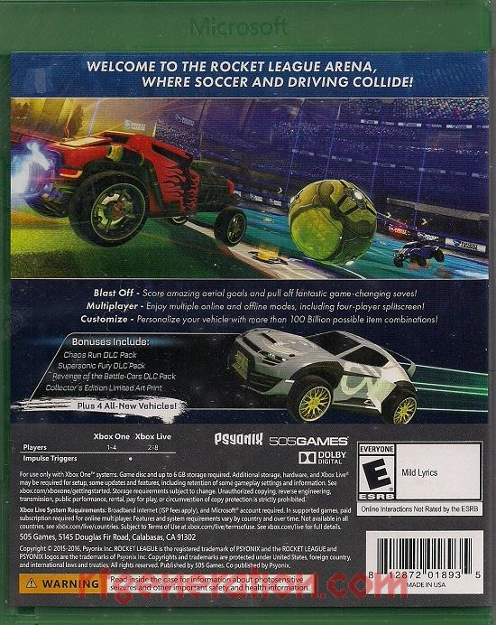 Rocket League <sup>[Collector's Edition]</sup> Box Back