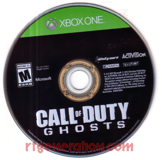 Call of Duty: Ghosts Game Scan