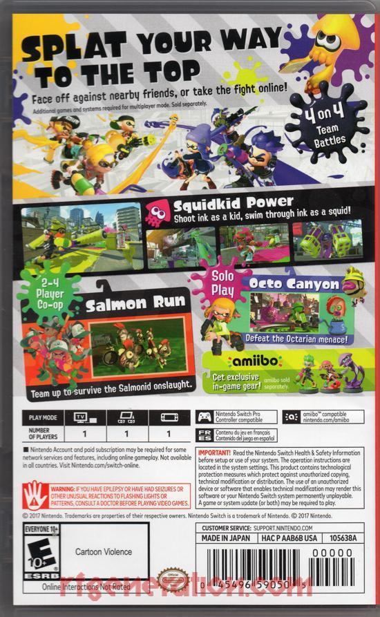 RF Generation: Splatoon 2 (Nintendo Switch)