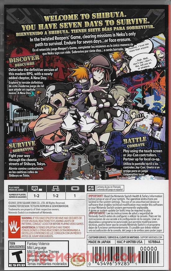 World Ends With You, The: Final Remix Box Back