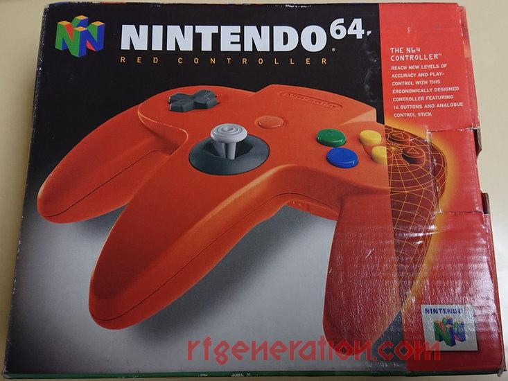 Nintendo 64 Controller Red Box Front Image