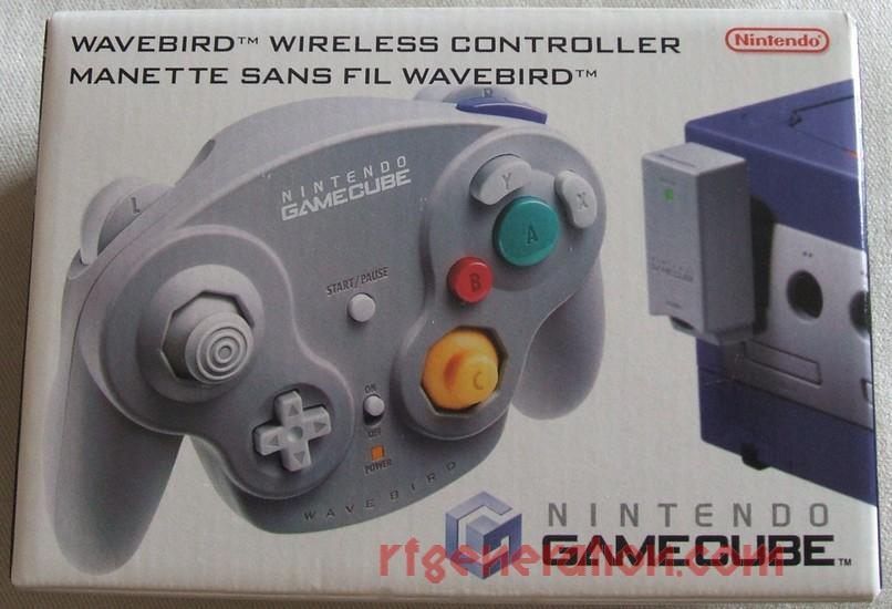 WaveBird Controller + RF Adapter Grey Box Front Image