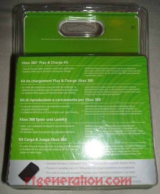 Play & Charge Kit Black Box Back Image