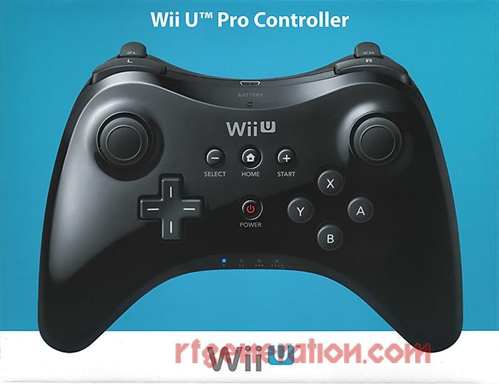 Wii U Pro Controller Black Box Front Image