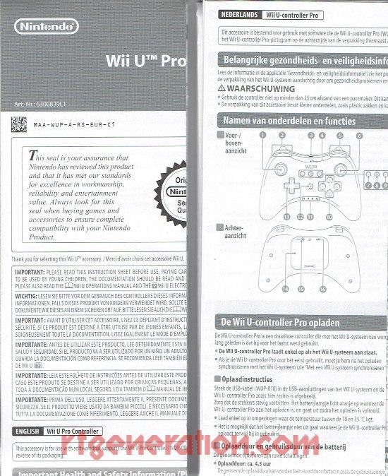Wii U Pro Controller Black Manual Scan
