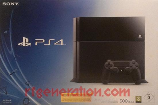 Sony PlayStation 4 Jet Black - 500GB Box Front Image