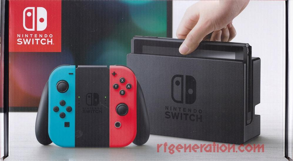 Nintendo Switch Neon Red & Blue Joy-Con Box Front Image
