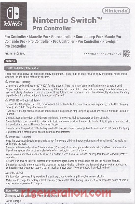 Pro Controller  Manual Scan