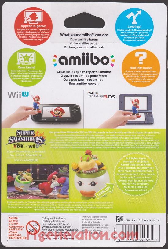 Amiibo: Super Smash Bros.: Bowser Jr.  Box Back Image