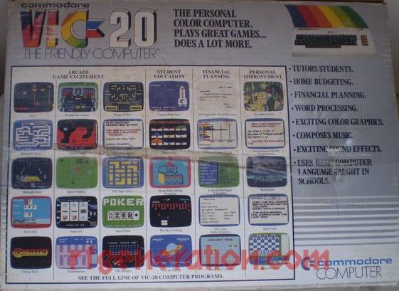 Commodore VIC-20  Box Back Image