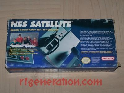 NES Satellite Remote Control Module Box Back Image
