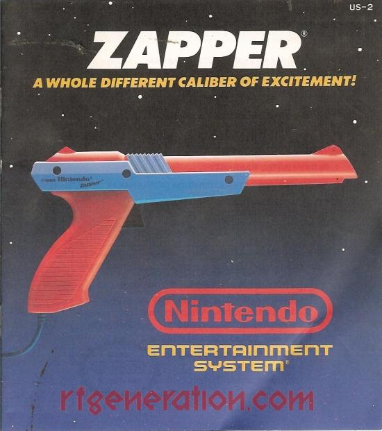 NES Zapper Orange Manual Scan