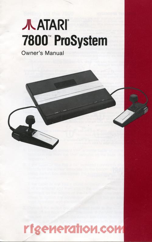 Atari 7800 ProSystem  Manual Scan