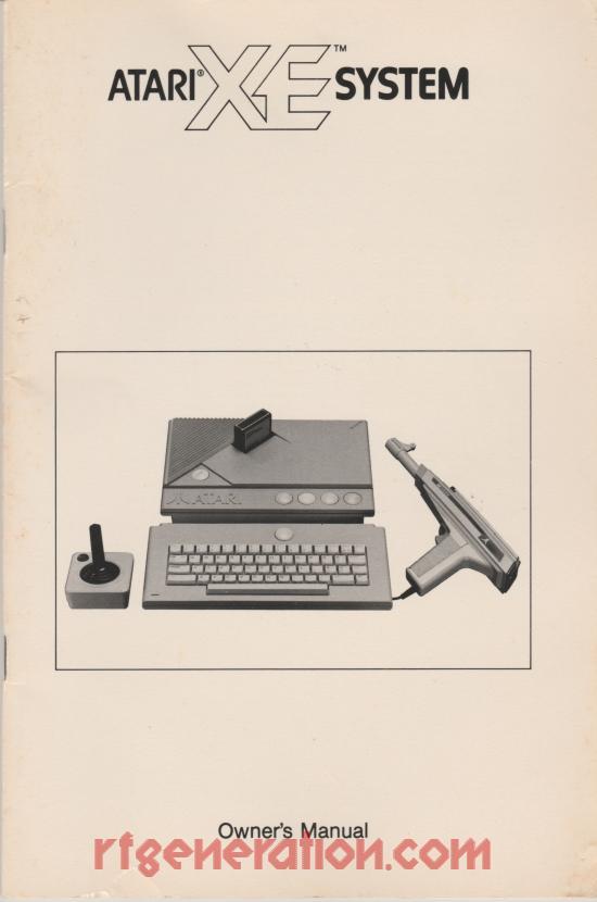 Atari XE Video Game System  Manual Scan