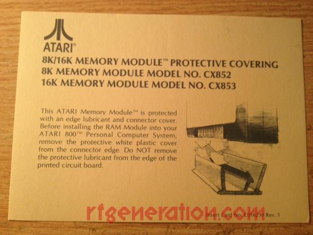 16K Memory Module  Manual Scan
