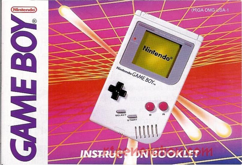 Nintendo Game Boy  Manual Scan