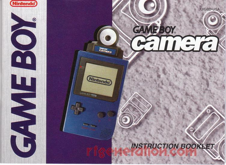 Game Boy Camera Yellow Manual Scan