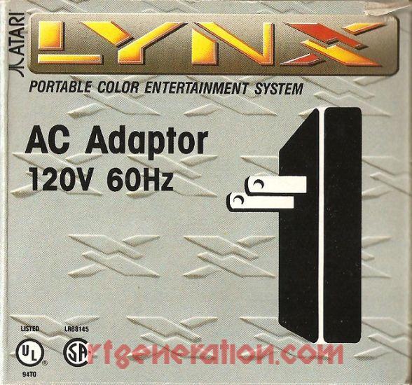Atari Lynx AC Adapter  Box Front Image