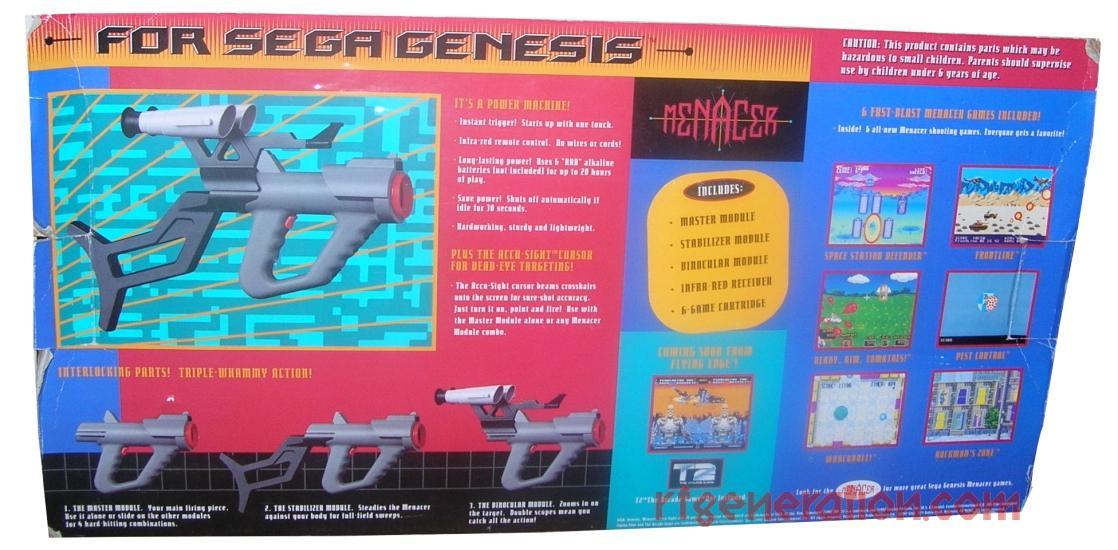 Menacer & Control Unit  Box Back Image