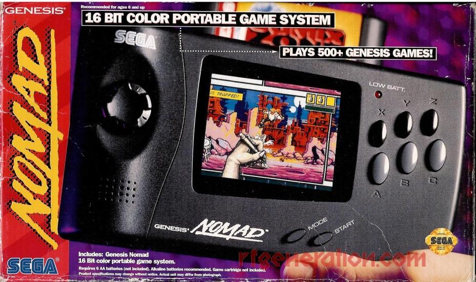 Sega Nomad  Box Front Image
