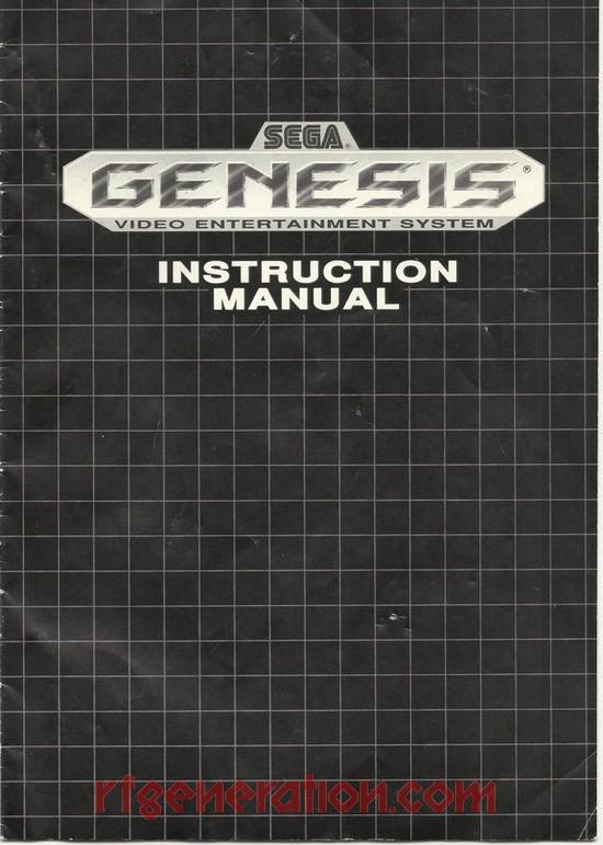 rf generation sega genesis sega genesis manual scan rh rfgeneration com Sega Genesis Starflight Manual Sunset Riders Sega Genesis Manual