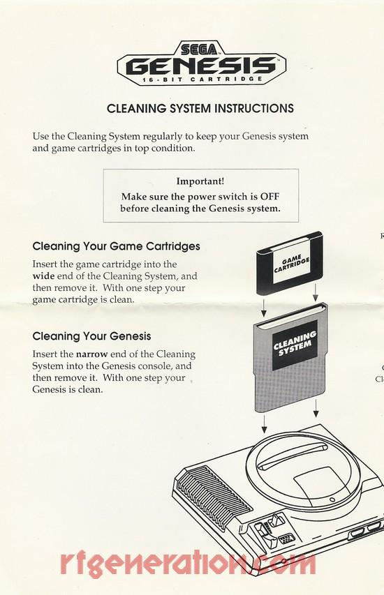 rf generation sega genesis cleaning system sega genesis manual scan rh rfgeneration com Sega Genesis Maps Sega Genesis Website