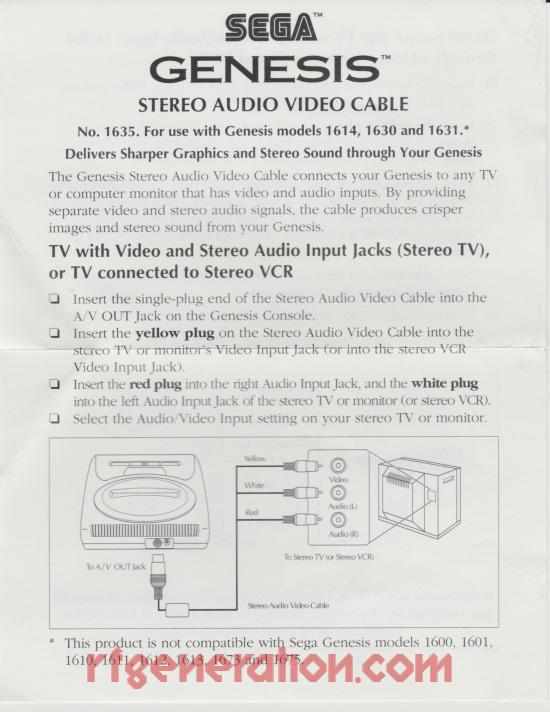 Stereo Audio Video Cable  Manual Scan
