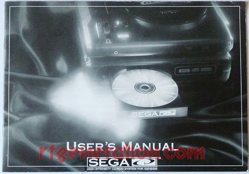 Sega CD  Manual Scan