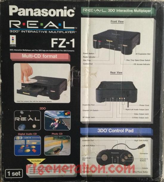 3DO Interactive Multiplayer Panasonic FZ-1 R.E.A.L. Box Back Image
