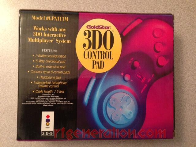 3DO Control Pad Goldstar Box Back Image