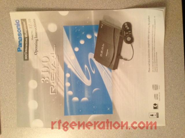 3DO Interactive Multiplayer Panasonic FZ-10 R.E.A.L. Manual Scan