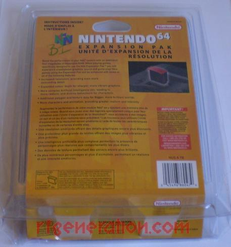 Expansion Pak Official Nintendo Box Back Image