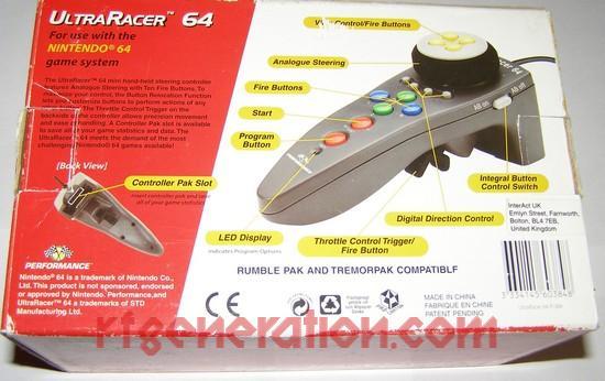 UltraRacer 64  Box Back Image