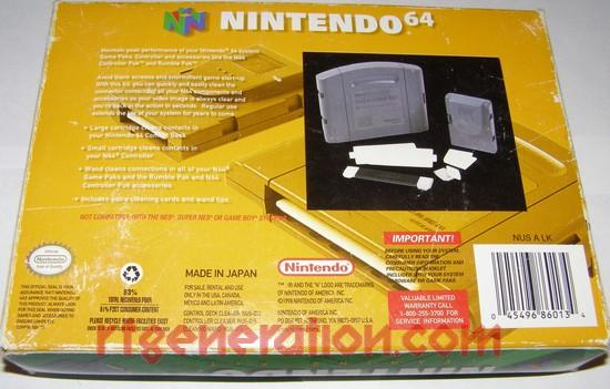 Cleaning Kit Official Nintendo Box Back Image