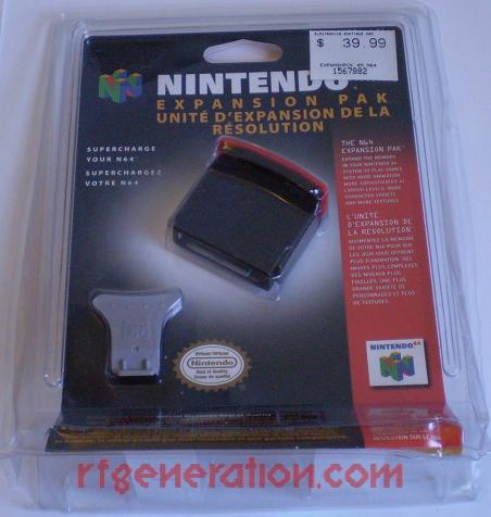 Expansion Pak Official Nintendo Box Front Image