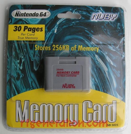 Nuby Memory Card 256KB Box Front Image