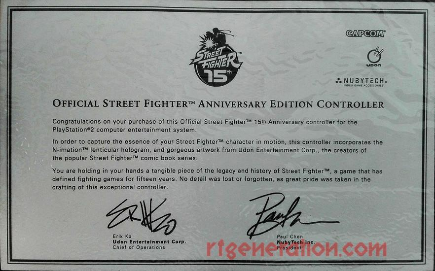 Official Street Fighter Anniversary Edition Controller Ryu Manual Scan
