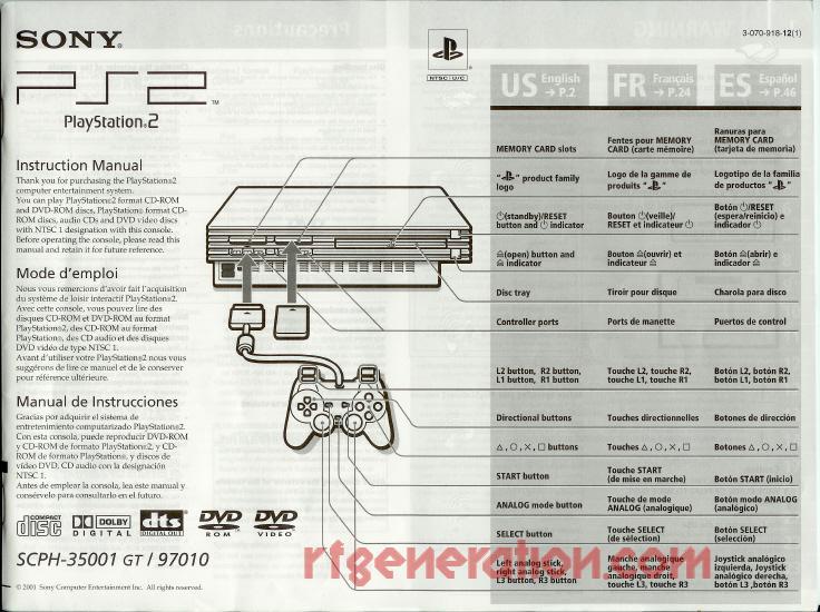 Инструкция к sony playstation 2