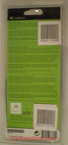 High Definition AV Pack Official Microsoft Box Back Image