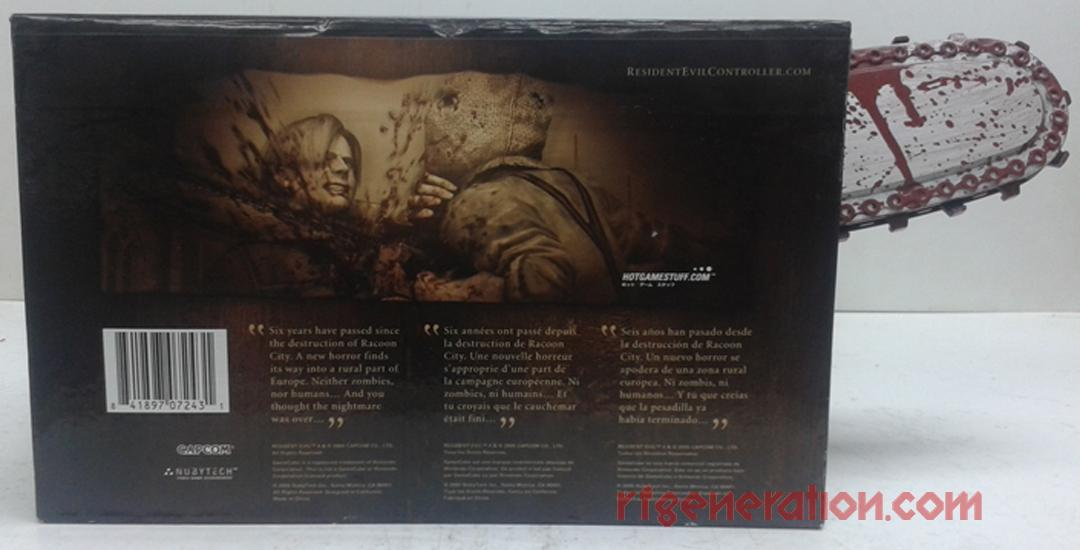 Resident Evil Chainsaw Controller  Box Back Image