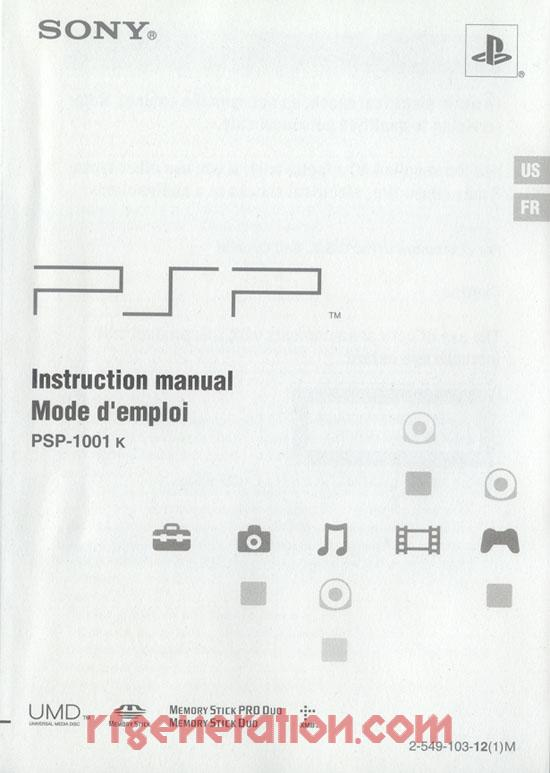 Sony PSP Value Pack Manual Scan