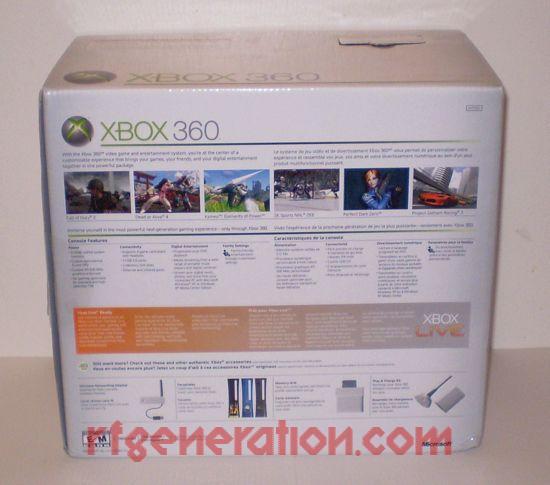 Microsoft Xbox 360 Premium Box Back Image