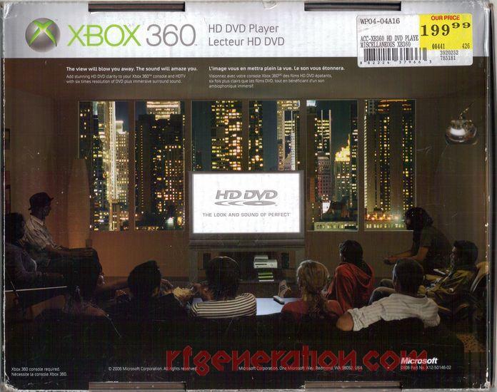 HD DVD Player  Box Back Image