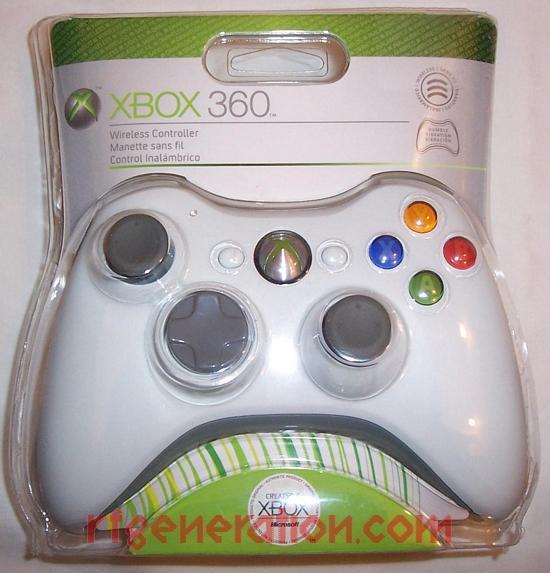Microsoft Xbox 360 Wireless Controller White Box Front Image