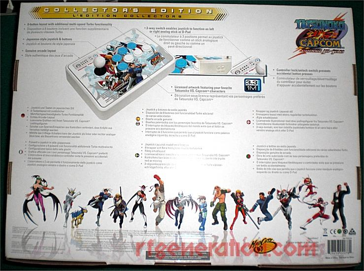 Arcade FightStick Collector's Edition - Tatsunoko VS. Capcom Box Back Image