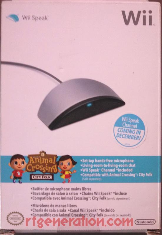 Wii Speak Microphone  Box Front Image