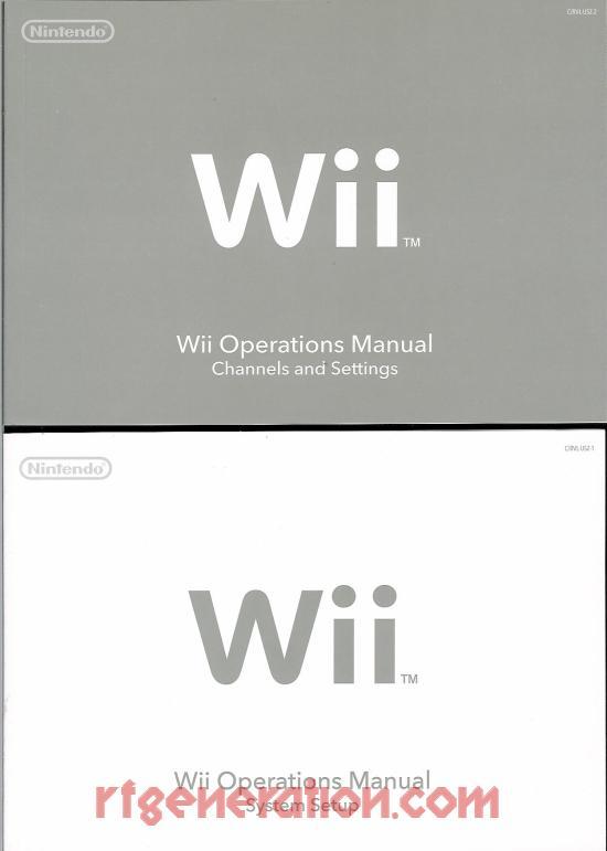 Nintendo Wii Wii Sports Bundle Manual Scan